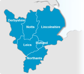 East Midlands Map
