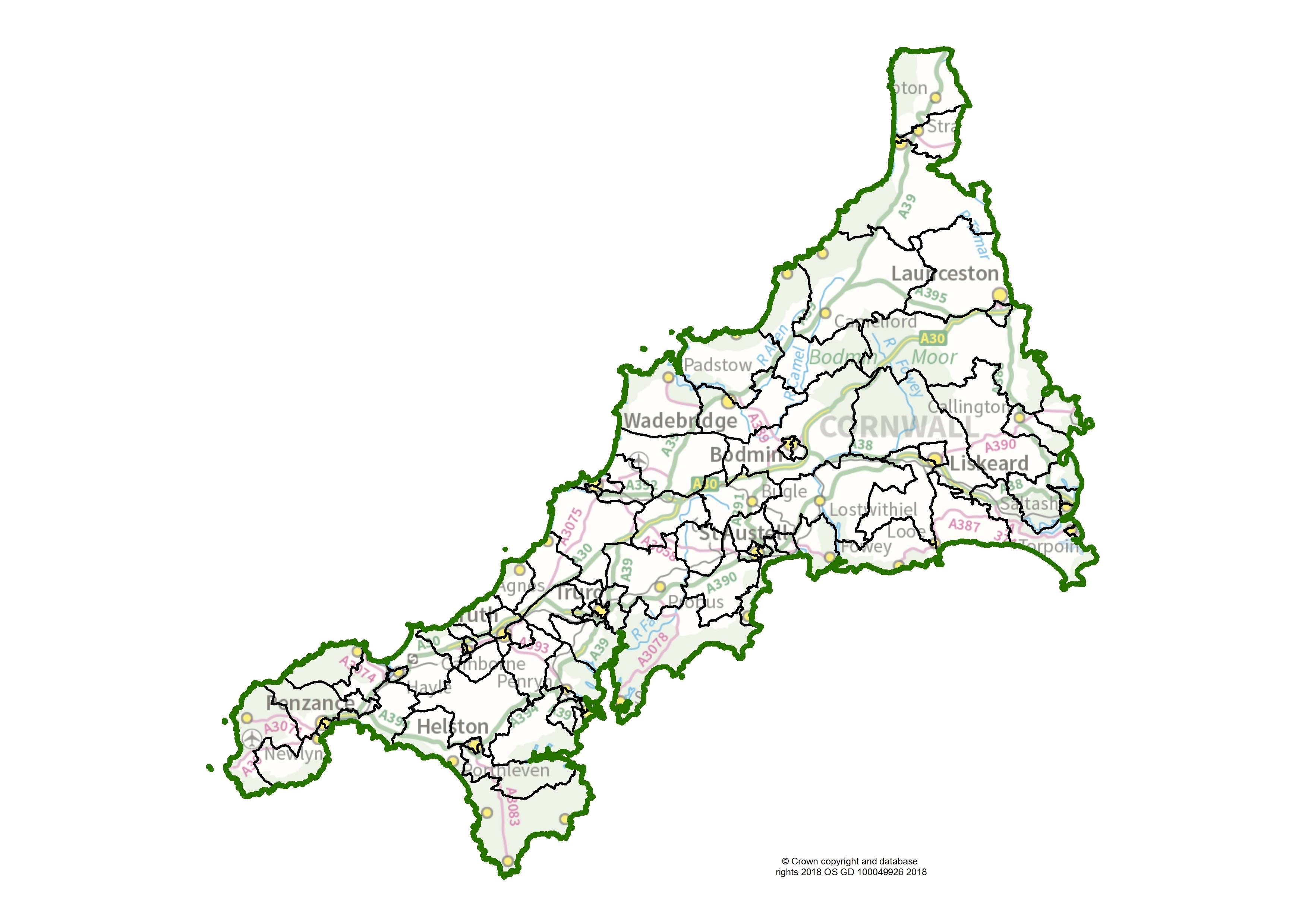 Cornwall Interactive Map Cornwall | LGBCE Site