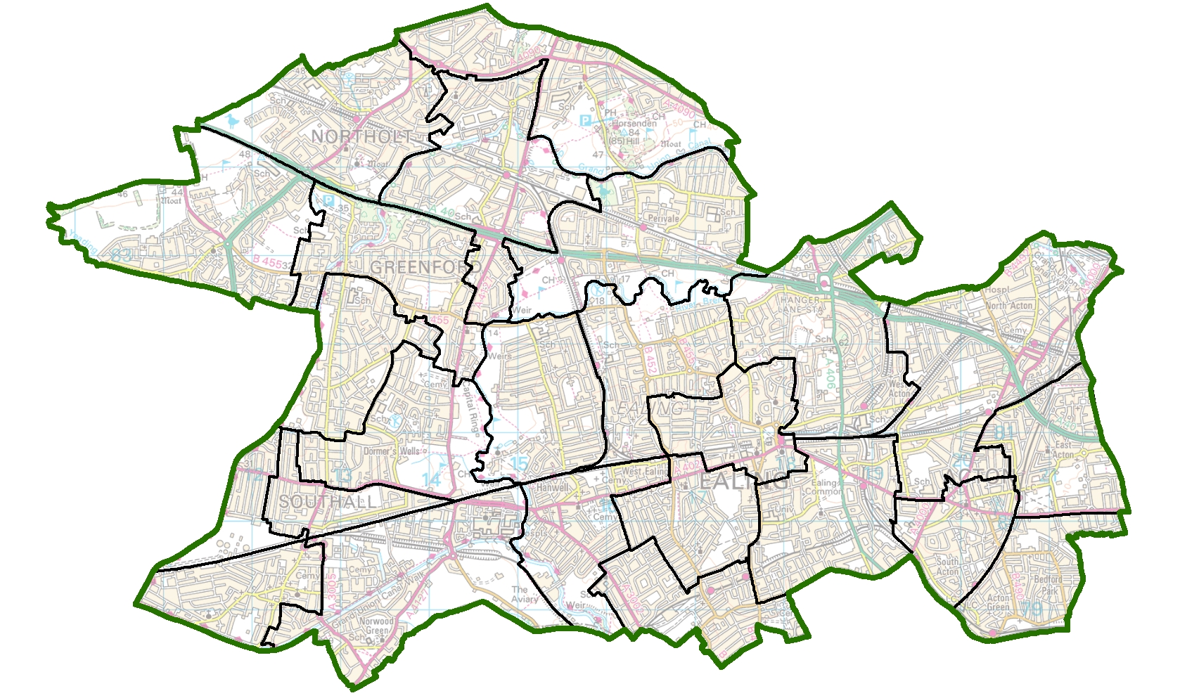 Map Of Uk No Labels.Have Your Say On New Political Map Of Ealing Lgbce Site