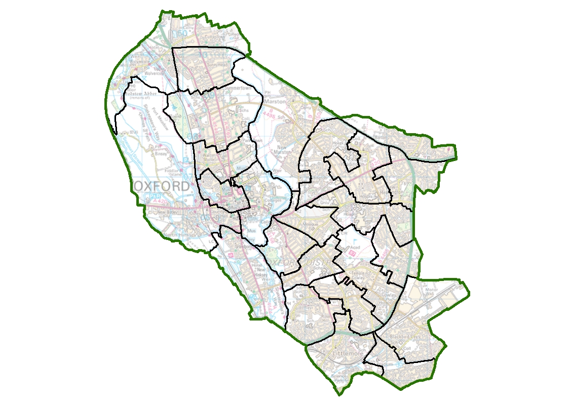 Map Of Uk Oxford.Local Electoral Arrangements Finalised For Oxford City Council