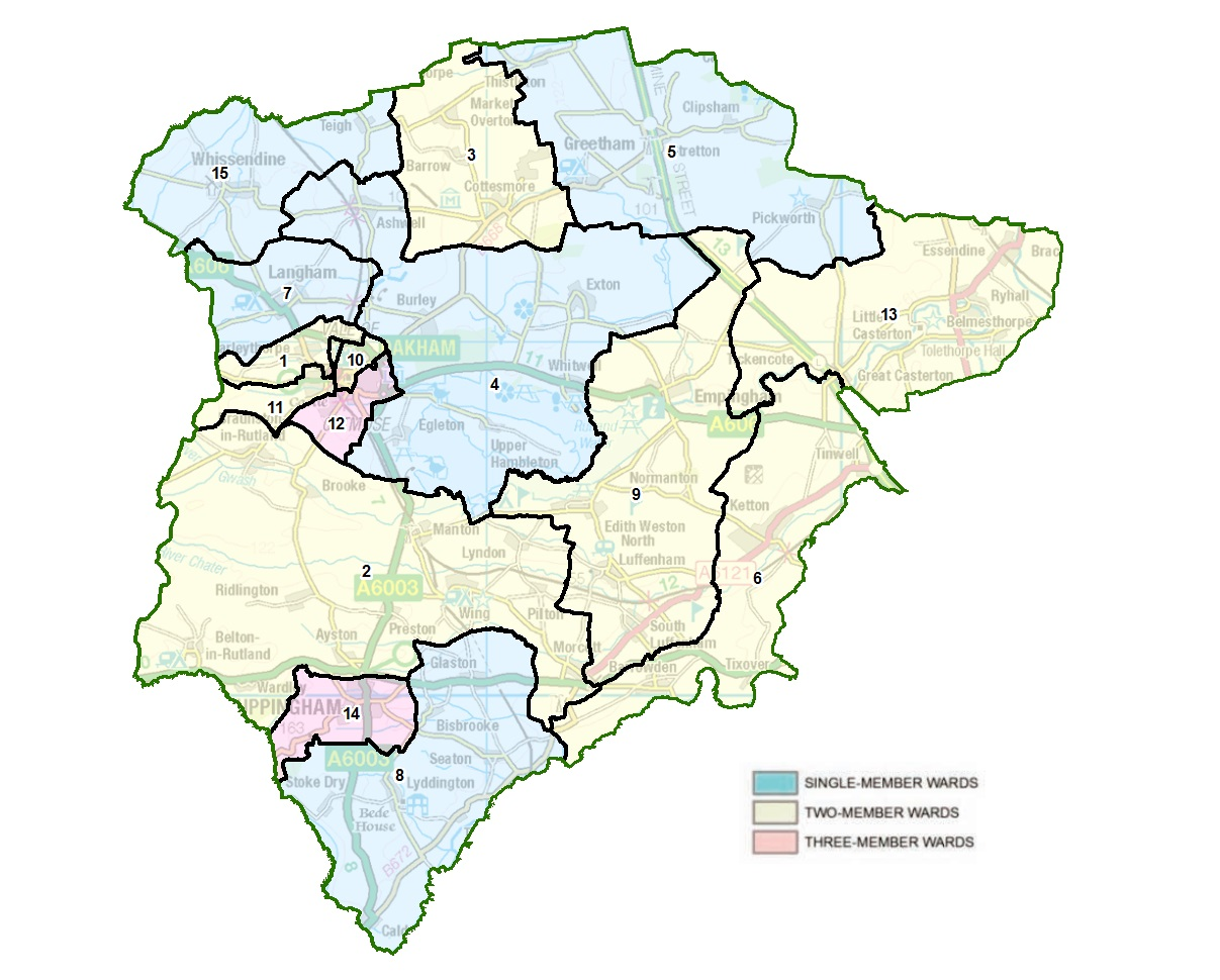 Ward map of Rutland