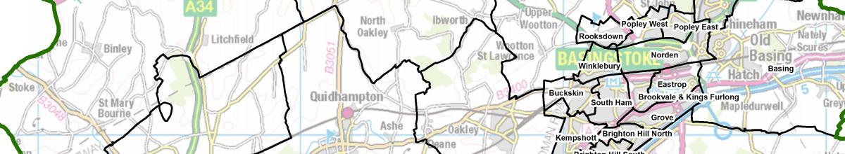 Basingstoke and Deane map