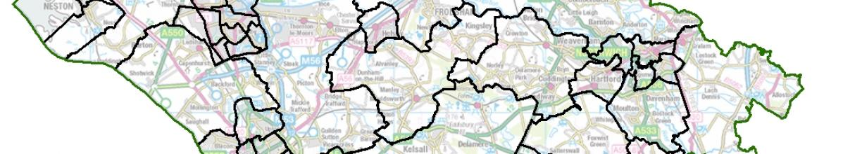Cheshire West and Chester map